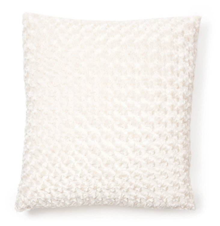 Rosebud 24x24 Pillow, Ivory