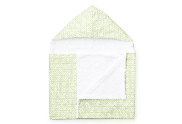 Green Trellis Hooded Towel