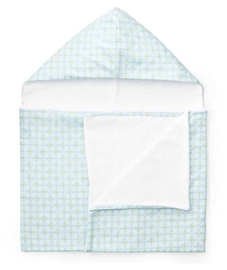 Blue Trellis Hooded Towel