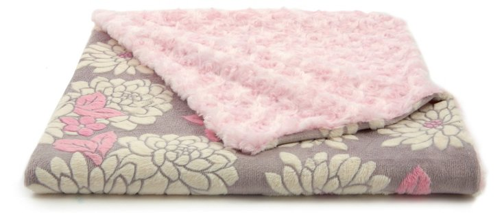 Ilona Faux-Fur Toddler Blanket, Pink