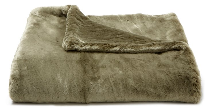 Mink Throw, Olive