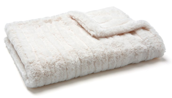 Stripe Cuddle Baby Blanket, Cream