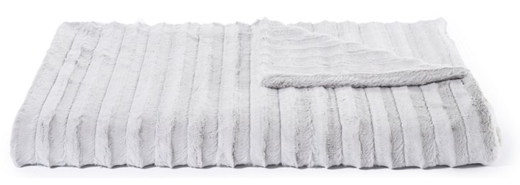 Oversize Channel Throw, Silver