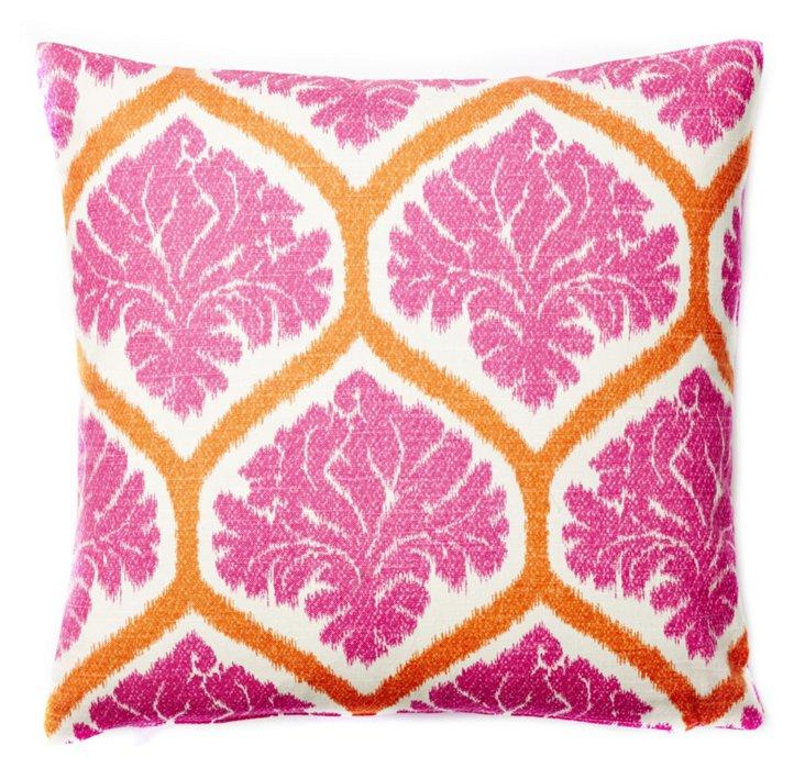 Palm Beach 20x20 Pillow, Orange/Pink
