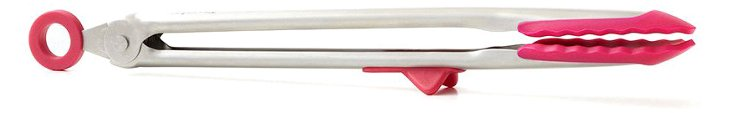 S/2 Silicone Tongs, Pink