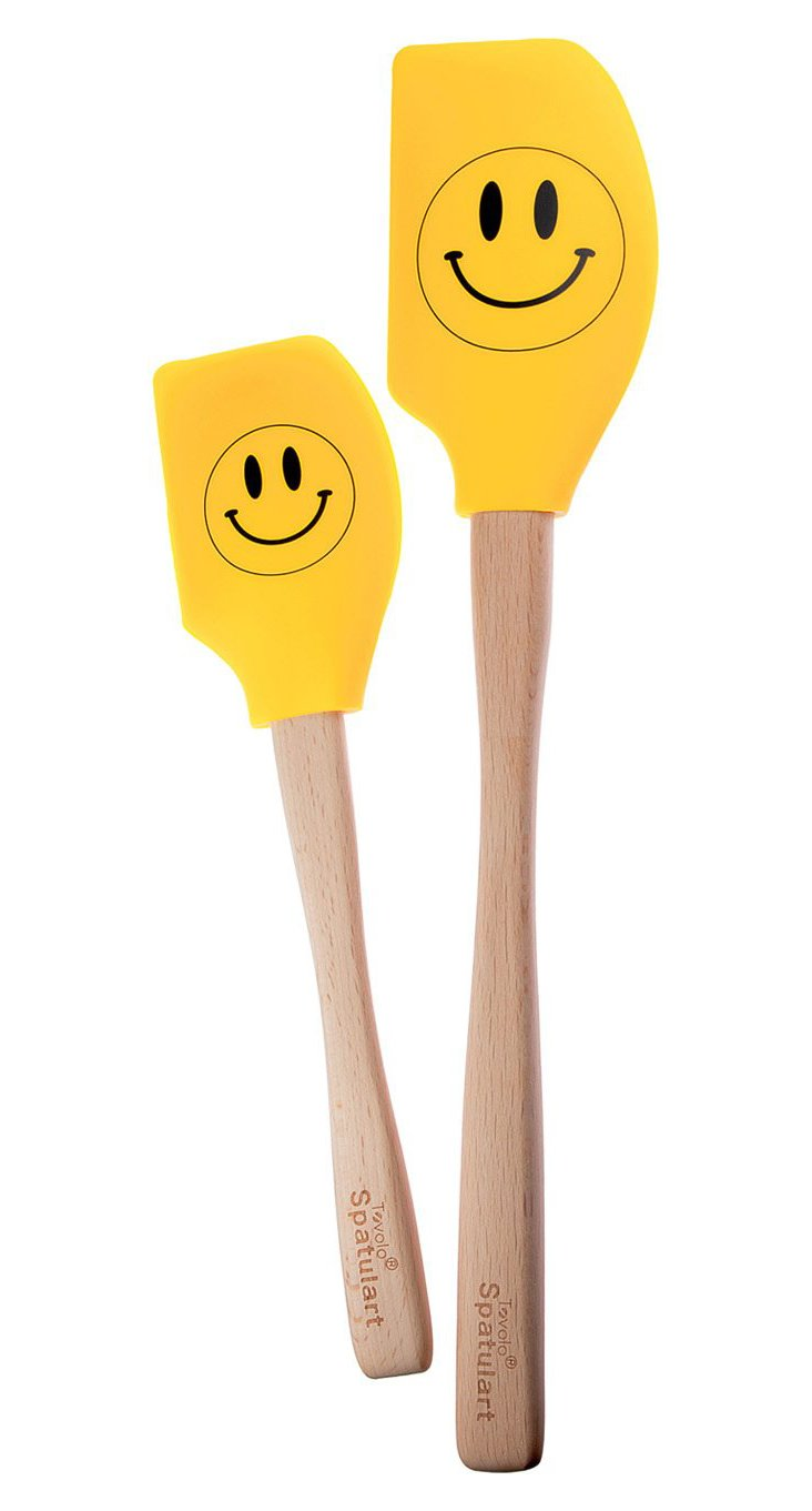 S/2 Smiley Face Spatulas