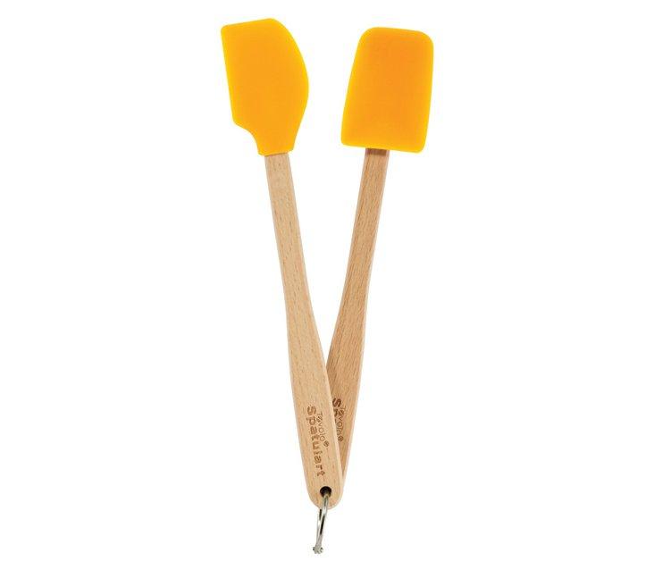 Mini Spatula & Spoonula Set, Orange
