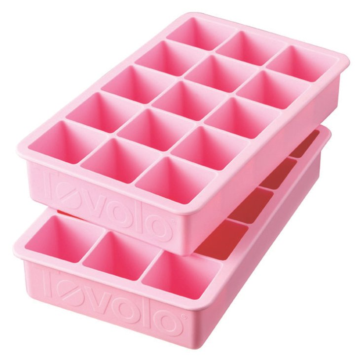 S/2 Perfect Ice Cube Trays, Pink