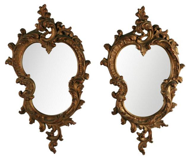 Baroque Salon Mirrors, Pair