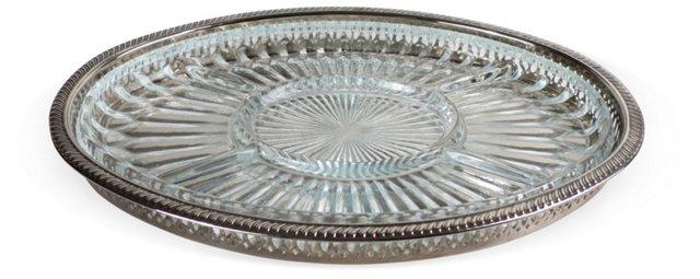 Silver & Glass Crudités Platter