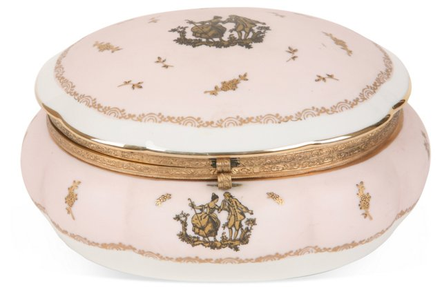 French Porcelain Ring Box