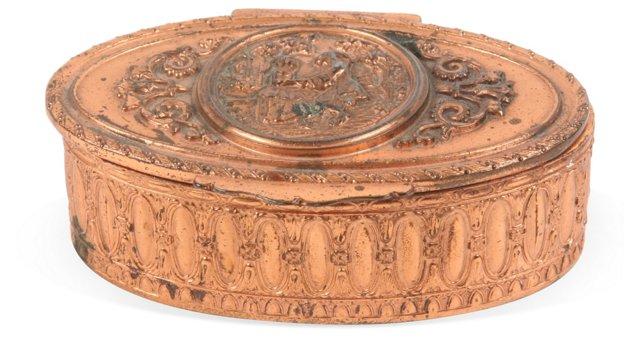 Antique French Bronze Jewel Box