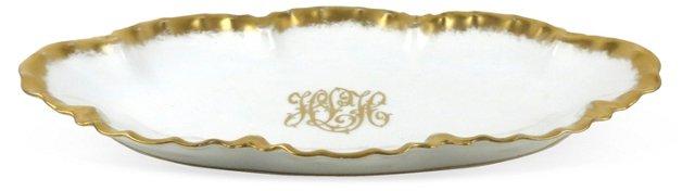 Porcelain Monogrammed Tray