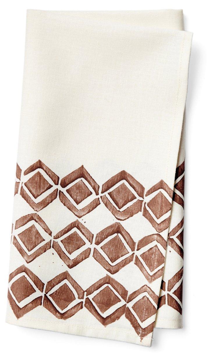 S/4 Chocolate Napkins