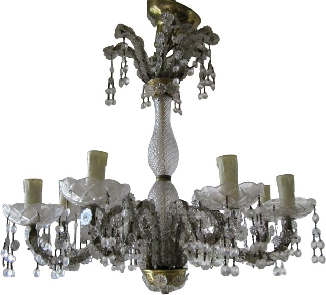 Victorian Glass Chandelier
