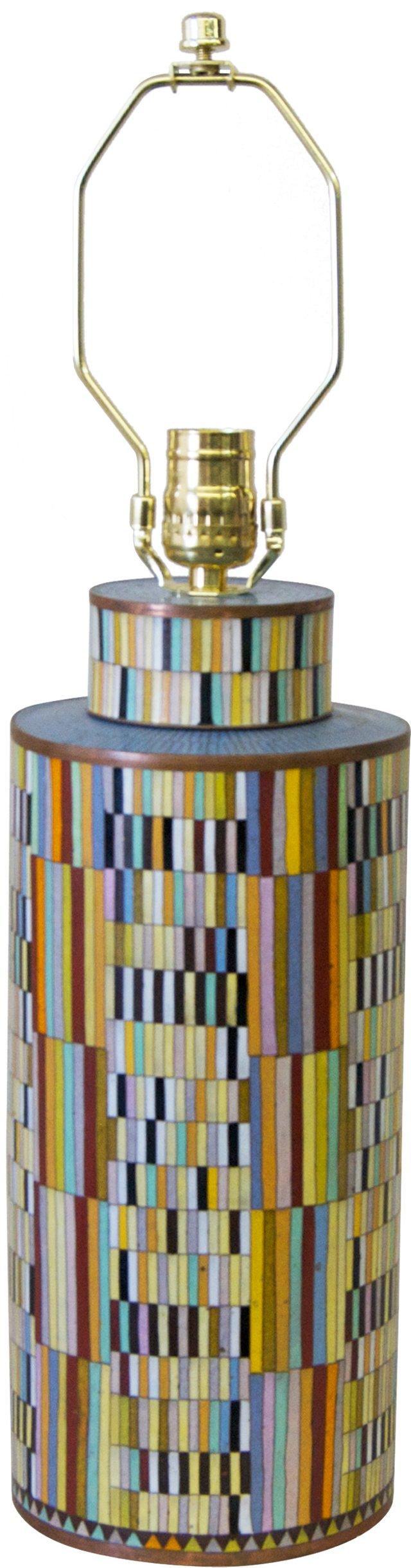 Geometric Cloisonné Lamp