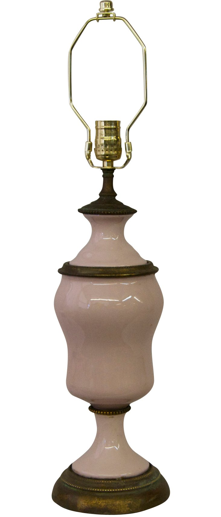 Dusty Rose Porcelain Lamp