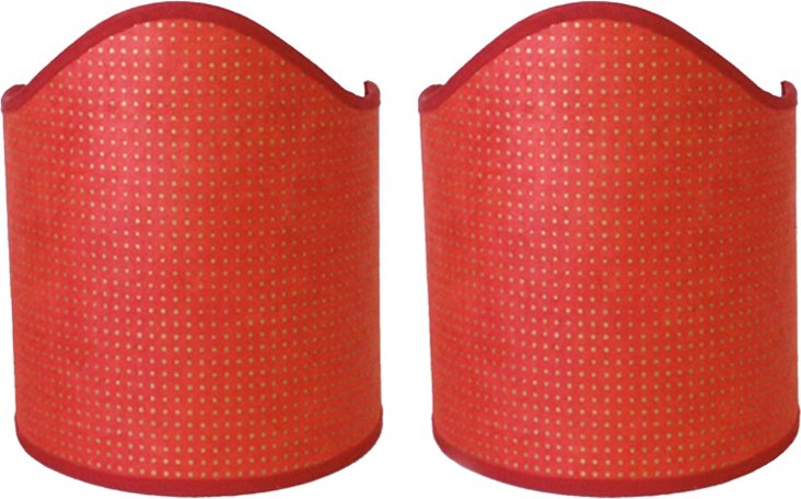 Large Red Paper Shields, Pair