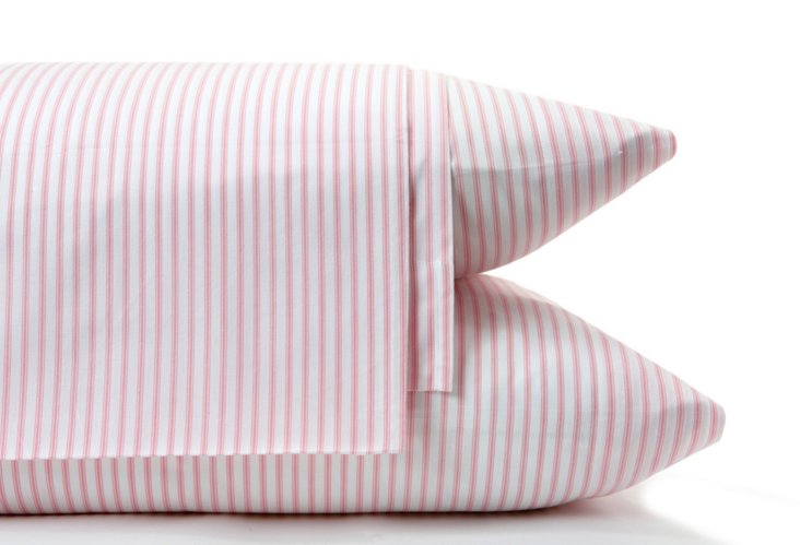 Ticking Sheet Set, Pink
