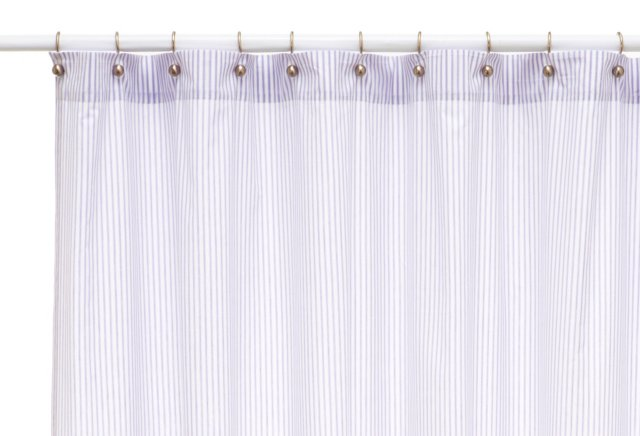 Ticking Shower Curtain, Lilac