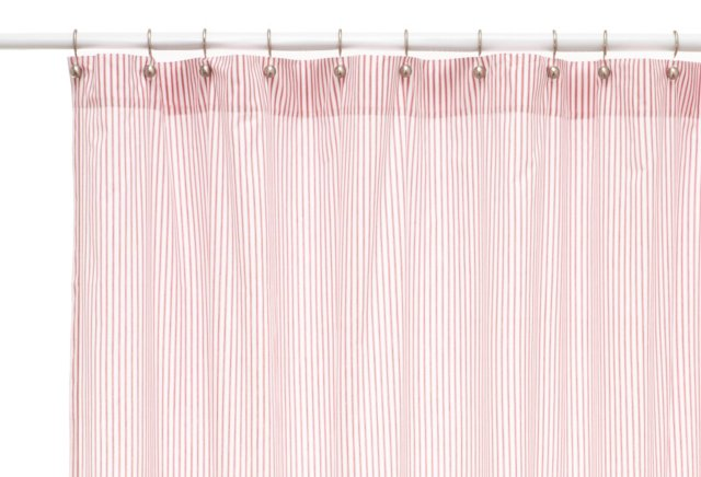 Ticking Shower Curtain, Red