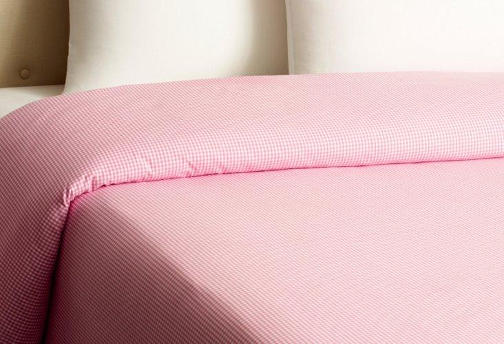 Gingham Duvet, Pink