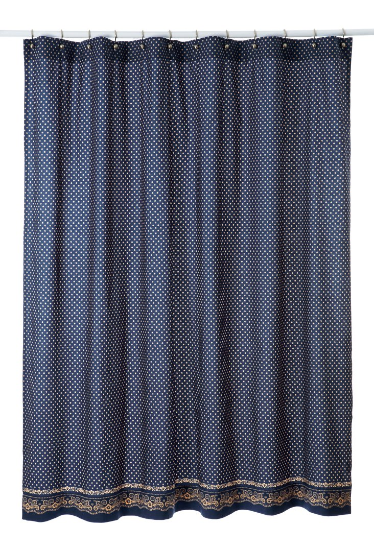 Bandana Shower Curtain, Navy