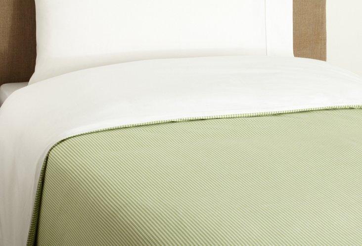 Mini Check Duvet & Shams, Green