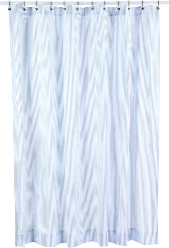 Ticking Shower Curtain, Blue