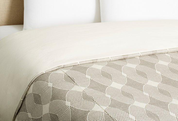 Grid Duvet Cover, Gray