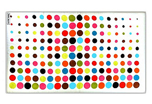 White Dot Terry Beach Towels, Set of 2