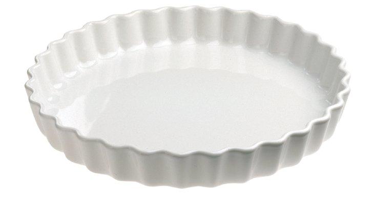 Round Porcelain Flan Dish