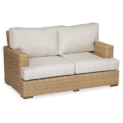 "Margate 65"" Loveseat, Natural"