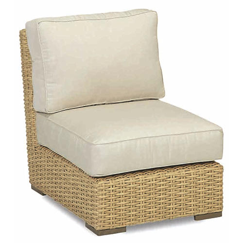 Margate Armless Club Chair, Natural