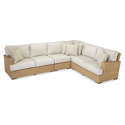 Margate Sectional, Natural