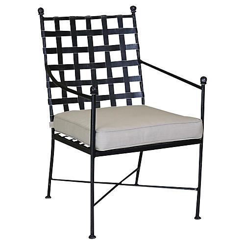Provence Outdoor Armchair, Beige Sunbrella
