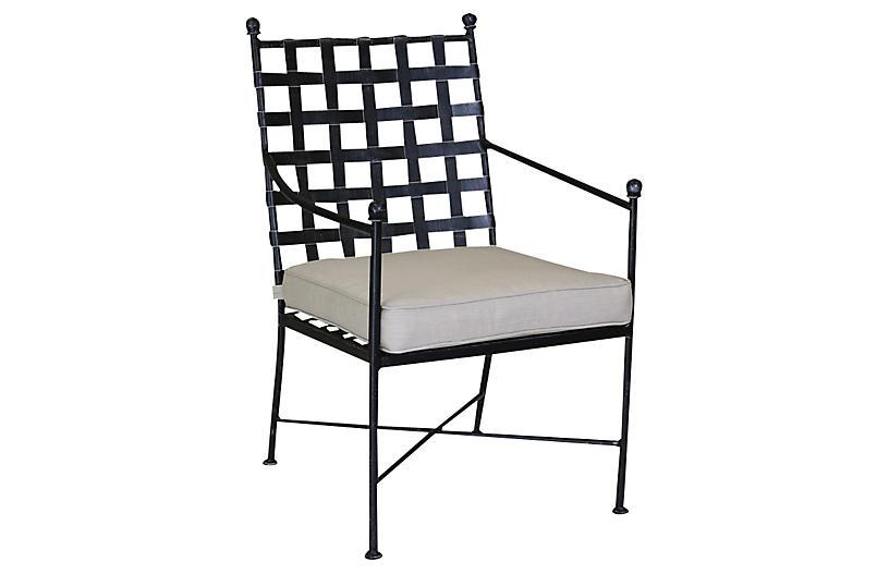 Isla Outdoor Armchair, Beige Sunbrella