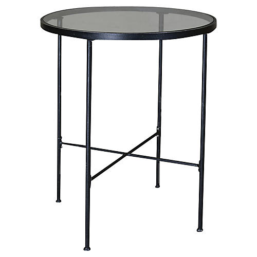 Provence Round Pub Table, Rich Pewter