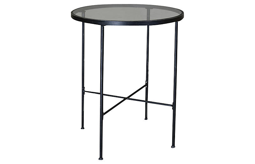 Isla Round Pub Table Rich Pewter
