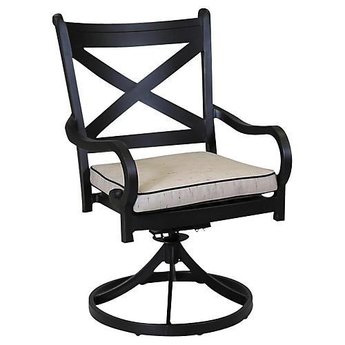 Monterey Swivel Chair, Ancient Bronze