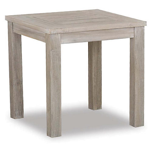 Olivia Outdoor Side Table, Gray