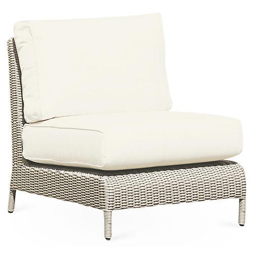 Manhattan Armless Club Chair, Sunbrella