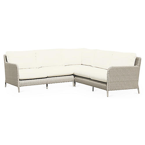 Manhattan 3-Pc Sectional, Sunbrella