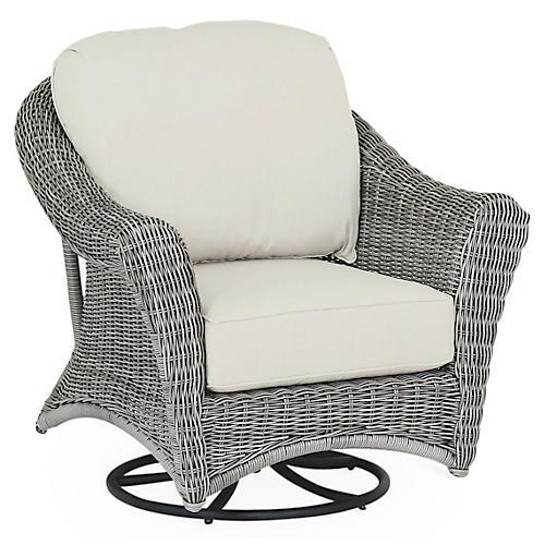 La Costa Rocking Chair, Sunbrella Flax