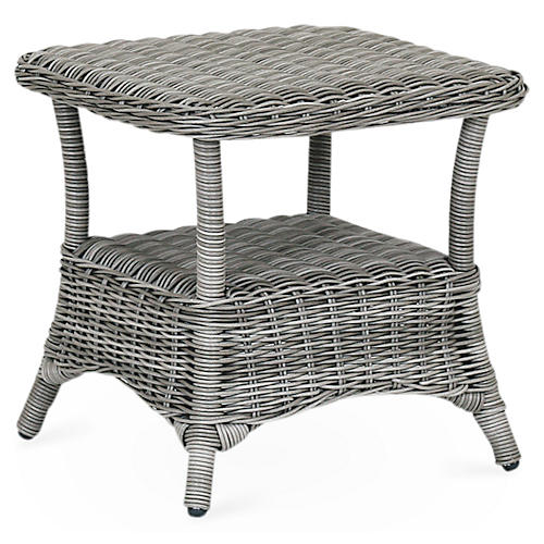 La Costa Side Table, Light Gray