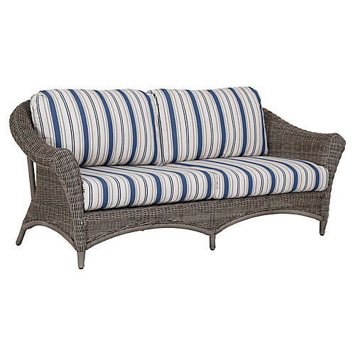 La Costa Sofa, Ivory/Blue