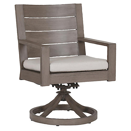 Laguna Swivel Armchair, Canvas Sunbrella