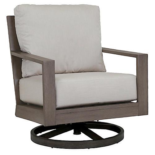 Laguna Swivel Club Chair, Canvas Sunbrella