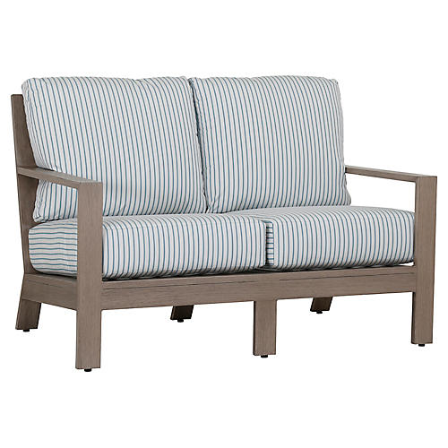 Laguna Loveseat, Ivory/Blue