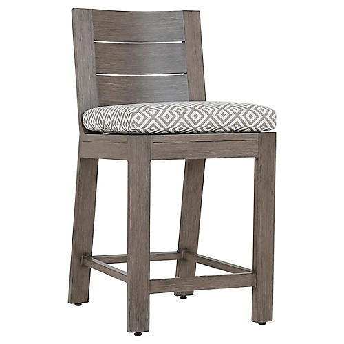 Laguna Counter Stool, Tan/White
